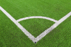 Corner lines artificial grass Royalty Free Stock Photo
