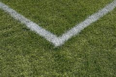 Corner lines of a sports field Stock Photography