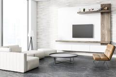 Loft modern living room corner, tv set Stock Illustration