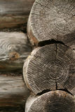 Corner logs close up royalty free stock photography