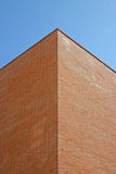 Corner of Modern Brick Building. In Liverpool stock image