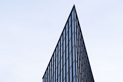 Corner of modern glass and steel building Stock Photo