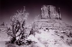A Corner of Monument Valley, Utah. Taken in Monument Valley along the Arizona Utah Border Royalty Free Stock Photos