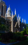 The corner of Mormon tabernacle Stock Photography