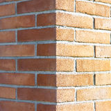Corner of a new brick wall Royalty Free Stock Photography
