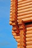 Corner of new log house Royalty Free Stock Image