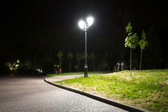 Corner Night Park Royalty Free Stock Photos