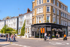 Corner in notting hill, london Stock Photo