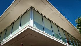 Corner Of A Post Modern Or Mid Century Building. Royalty Free Stock Photography