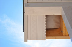 Free Corner Of House With Eaves Against Summer Background. Royalty Free Stock Images - 66184199