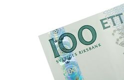Free Corner Of One Hundred Swedish Kronor Banknote Royalty Free Stock Image - 2028016