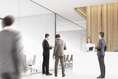 Corner of office with people Royalty Free Stock Image