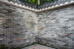 The corner of old brick fence in Chinese style Stock Photography