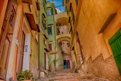 Corner of Old city of Sanremo stock image