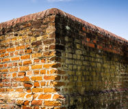 Corner of Old Colonial Wall Royalty Free Stock Images