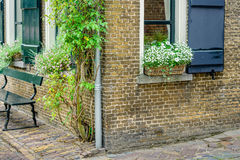 Corner of an old house in a historic Dutch village Royalty Free Stock Photography