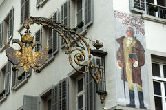 Corner of Old Lucerne,switzerland Royalty Free Stock Photos