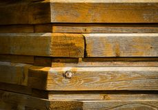 Corner of old wooden cottage Royalty Free Stock Images