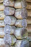 Corner of old wooden log house Royalty Free Stock Photos