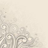 Corner Ornament. Corner decorative floral background, vector illustration layered Stock Photography