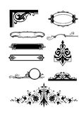 Corner ornament and floral element  set Royalty Free Stock Photography