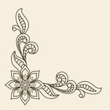 Corner ornament. Vintage background with floral corner ornament Royalty Free Stock Photography