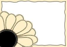 Corner paper flower frame border. Flower in the corner paper style, with a paper border frame Stock Photos