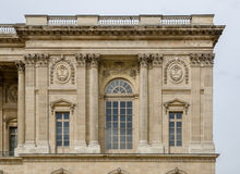 Corner part of the Louvre Museum Royalty Free Stock Image