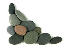 Corner pebbles Royalty Free Stock Images