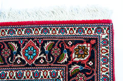 Corner of a Persian rug Royalty Free Stock Photography