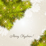 Corner with pine branches. New Year's corner with pine branches. A vector Royalty Free Stock Photo