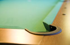 Corner of pool table Royalty Free Stock Photos