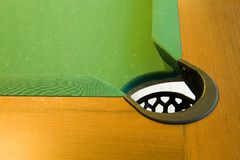 Corner of pool table Royalty Free Stock Image