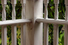 Corner Porch Rails. On farmer's porch Stock Photography