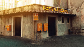 Corner poste vaticane. Vaticans corner poste office card Royalty Free Stock Images