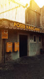 Corner poste vaticane. Vaticans corner poste office card Stock Photo