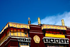 The Corner of Potala Palace. Situated on Hongshan Mountain in Lhasa, the capital city of the Tibet Autonomous Region, Potala Palace is 3,700 meters above sea Stock Photography