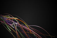 Corner Rainbow Strands Line Dark Background Stock Photo