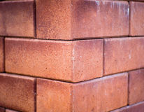 A corner of red brick wall Royalty Free Stock Photo