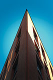 Corner of red modern architecture building. Corner of red modern archicture building Royalty Free Stock Images