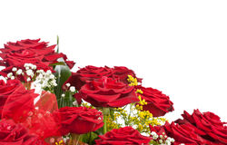 Corner of red roses Royalty Free Stock Images