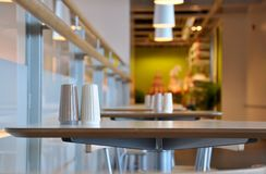 The corner of restaurant Royalty Free Stock Images