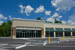 Corner retail store. Newly constructed upscale corner retail store Royalty Free Stock Image