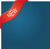 Corner ribbon. New red corner ribbon for your product Royalty Free Stock Images