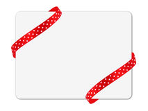 Corner ribbon note card Stock Photos