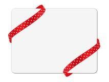 Corner ribbon note card Stock Photos