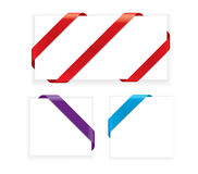 Corner Ribbons. Set Of Blank Realistic Corner Ribbons vector illustration