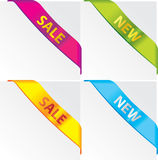 Corner ribbons. Color corner ribbons,  set Stock Photo