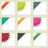 Corner ribbons. Bright corner ribbons ready for your text royalty free illustration