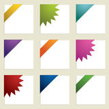 Corner ribbons. Bright gradient corner ribbons ready for your text stock illustration